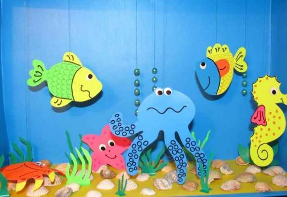 Подводный мир своими руками для детского